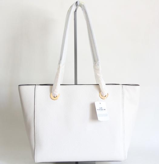 Coach Leather Turnlock Chain White Shoulder Bag Image 4