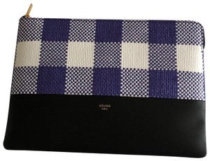 Céline blue, white and black Clutch
