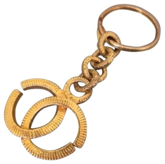 Chanel [ENT] Chanel Engraved Gripoix Gold Charm Pendant Key Chain CCJY13