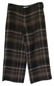 Max Mara Weekendline Plaid Capris Brown