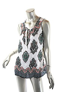 ecru Spring Herati Printed Top Multi Color