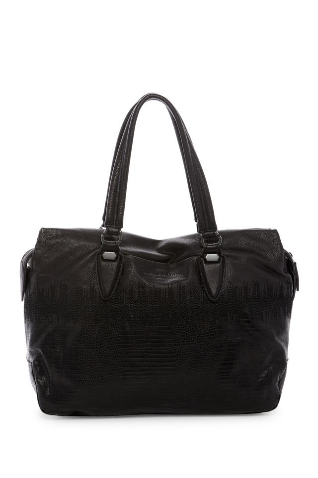 Liebeskind Lizard Yamagata Satchel Leather Embossed Nairobi Black HrHOq