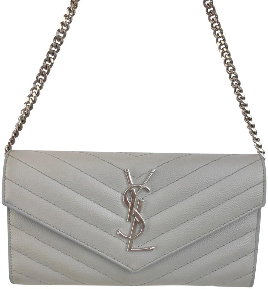 Caviar Shoulder Cassandre Clutch Laurent Saint Envelop Chevron Bag tnFpRxHqx