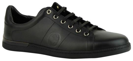 Gucci Leather Sneaker Black Athletic Image 0