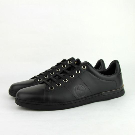 Gucci Leather Sneaker Black Athletic Image 1