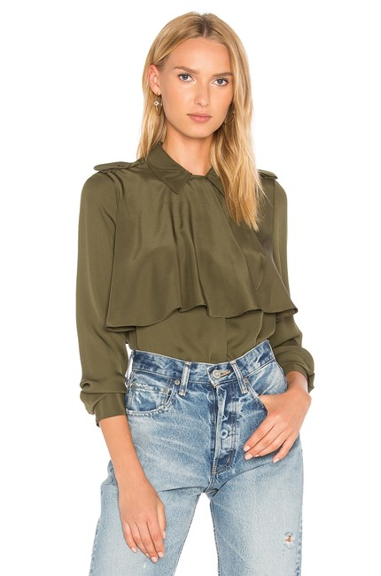 Preload https://img-static.tradesy.com/item/23821357/frame-army-denim-mixed-military-silk-shirt-lwsh0367-button-down-top-size-4-s-0-2-650-650.jpg