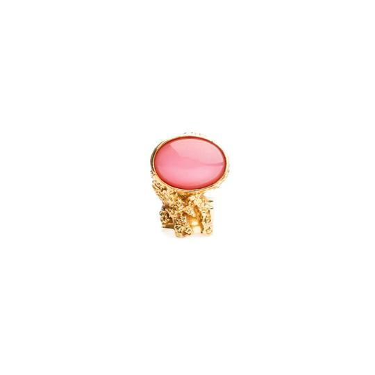 Saint Laurent Saint Laurent Arty Oval Pink Ring 196994 Size 4 Image 6