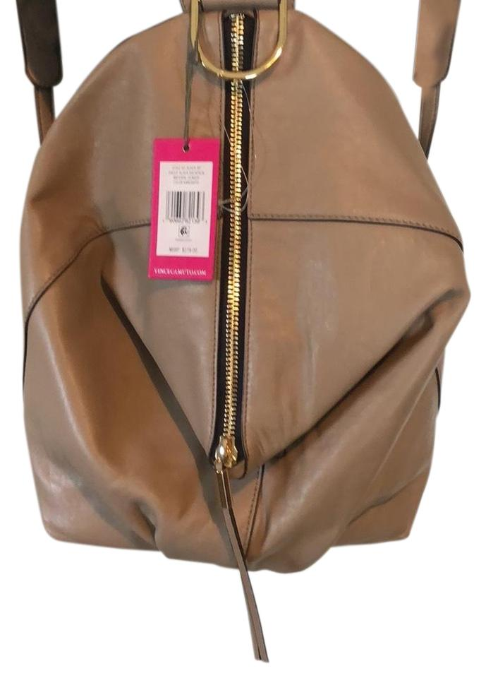 a0667a954c77 Vince Camuto Alder Kangaroo Taupe Leather Backpack - Tradesy