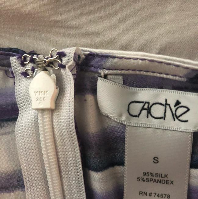 Cache Night Out Silk purple & white Halter Top Image 3
