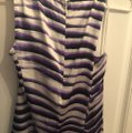 Cache Night Out Silk purple & white Halter Top Image 4