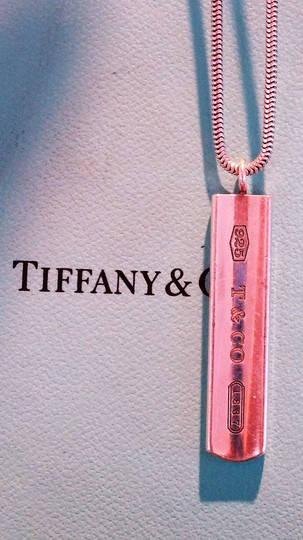 Tiffany & Co. Authentic TIFFANY & Co. 1837 Barrett Necklace * Pendant / Bar tag Image 1