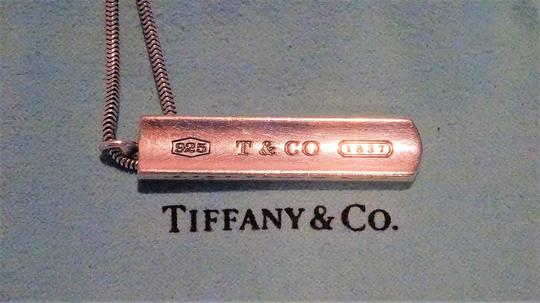 Tiffany & Co. Authentic TIFFANY & Co. 1837 Barrett Necklace * Pendant / Bar tag Image 10