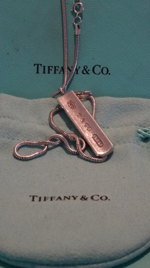 Tiffany & Co. Authentic TIFFANY & Co. 1837 Barrett Necklace * Pendant / Bar tag Image 2