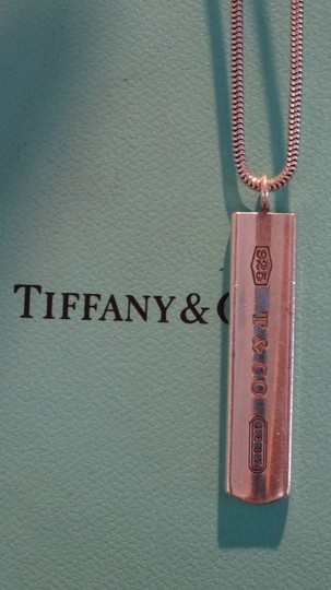 Tiffany & Co. Authentic TIFFANY & Co. 1837 Barrett Necklace * Pendant / Bar tag Image 5