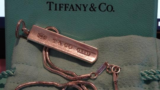 Tiffany & Co. Authentic TIFFANY & Co. 1837 Barrett Necklace * Pendant / Bar tag Image 8