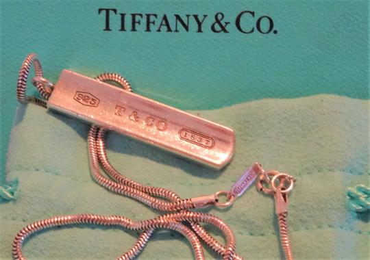 Tiffany & Co. Authentic TIFFANY & Co. 1837 Barrett Necklace * Pendant / Bar tag Image 9