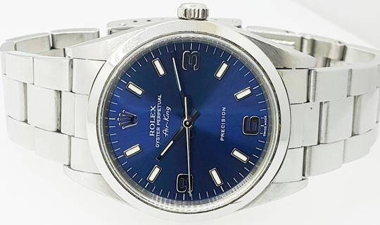 Rolex Rolex Air King Precision Stainless Steel Blue Dial 34mm Unisex Watch Image 1