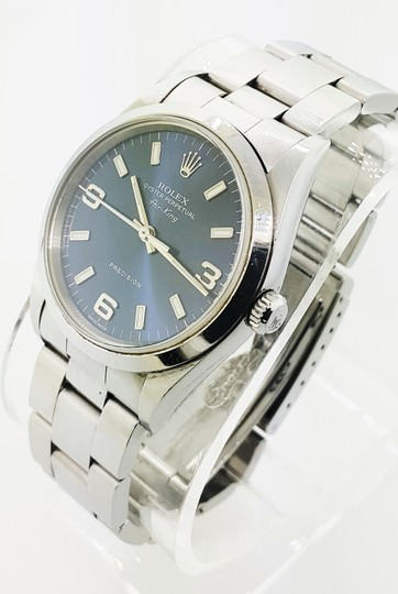 Rolex Rolex Air King Precision Stainless Steel Blue Dial 34mm Unisex Watch Image 2