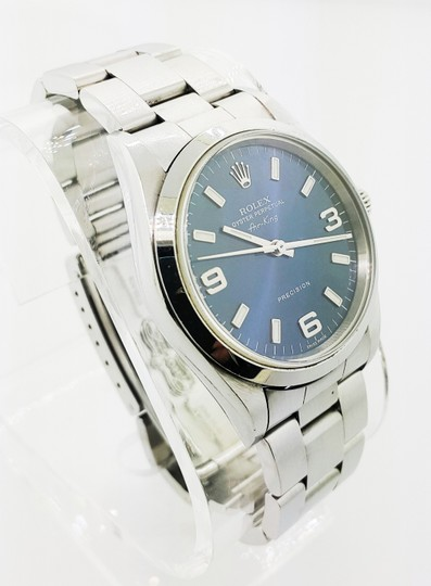 Rolex Rolex Air King Precision Stainless Steel Blue Dial 34mm Unisex Watch Image 3
