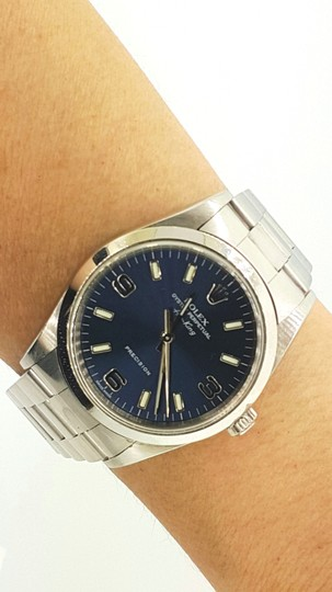 Rolex Rolex Air King Precision Stainless Steel Blue Dial 34mm Unisex Watch Image 5