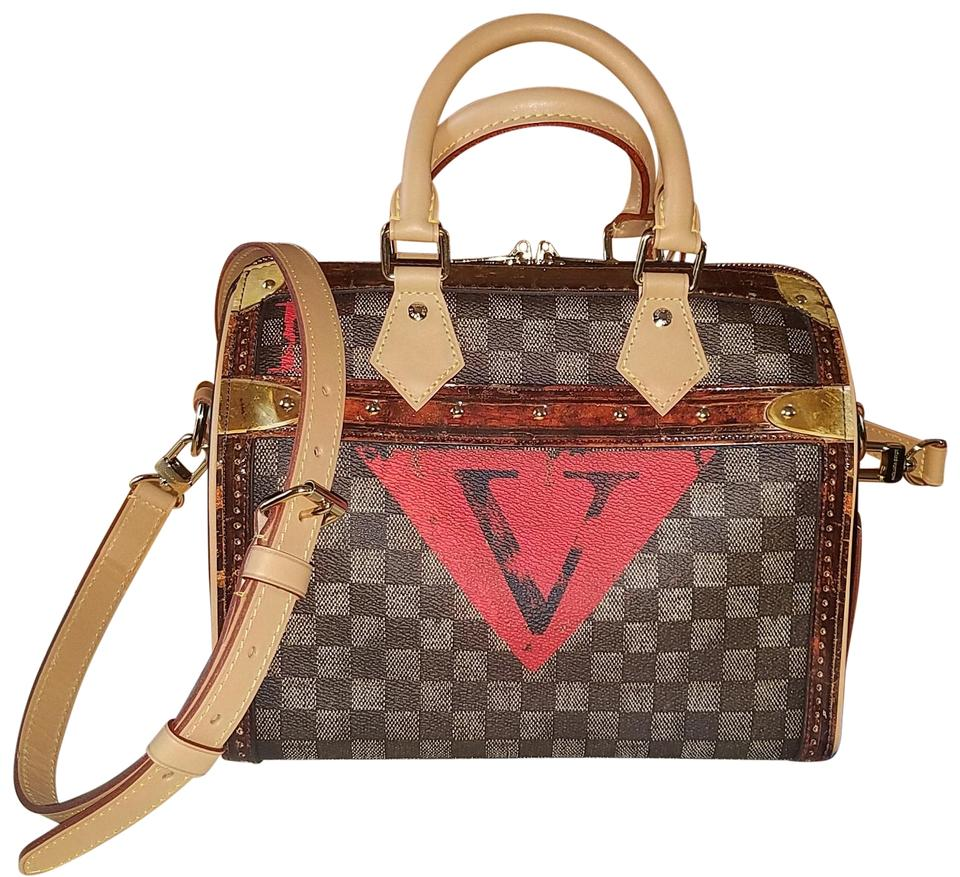 31cbe26c78f2 Louis Vuitton Lv Momogram Mono De Graphite Satchel in Damier Red Image 0 ...