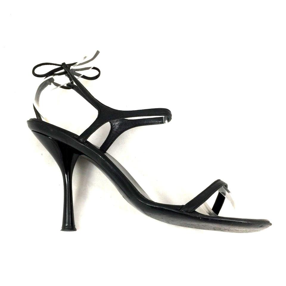 61d422d4dd1e Gucci Strappy Ankle Strap Open Toe Leather Black Sandals Image 11.  123456789101112