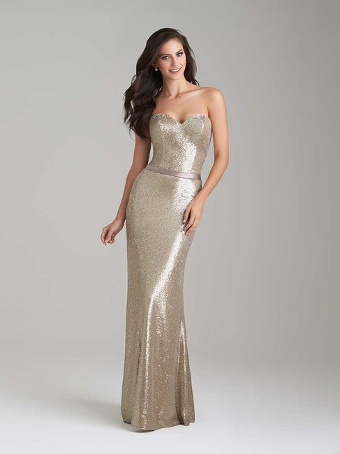 Item - Stone Sequin/Satin 1471 Formal Bridesmaid/Mob Dress Size 8 (M)