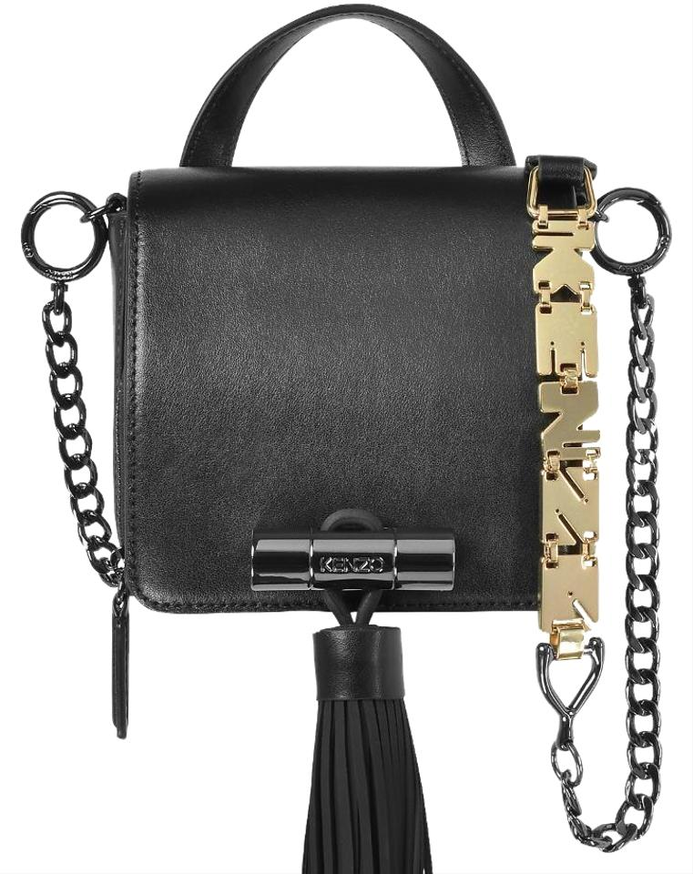 c8f74e54cd Kenzo Sailor W/Rubber Tassel Black Leather Cross Body Bag 22% off retail