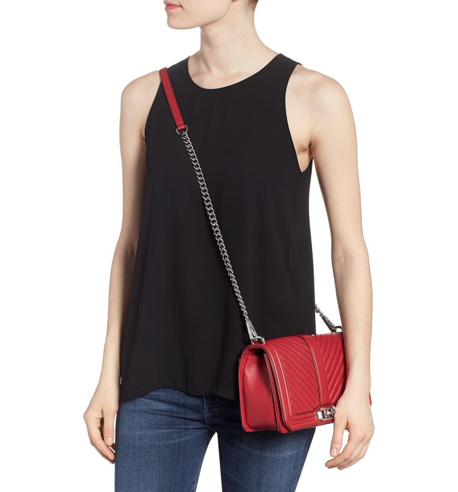 Redlove Red Bag Quilted Leather Chevron Cross Rebecca Minkoff Scarlet Body SxqIw7g