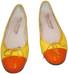 Paul Mayer Quilted Leather Chanel Gucci Fendi yellow orange Flats
