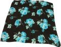 Dior Dior Scarf with Blue and Black Flowers