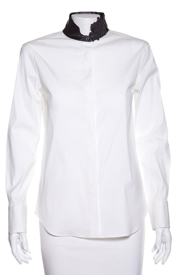 Lace White Top down Embellished Button Grey up Brunello Button amp; Cucinelli wOxfWqI