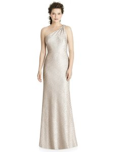 Dessy Rose Gold (Soho Metallic) Jy537 Formal Bridesmaid/Mob Dress Size 8 (M)