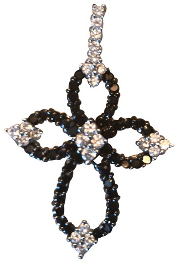Preload https://img-static.tradesy.com/item/23821842/crystal-and-black-cross-pendant-for-necklace-new-0-1-540-540.jpg