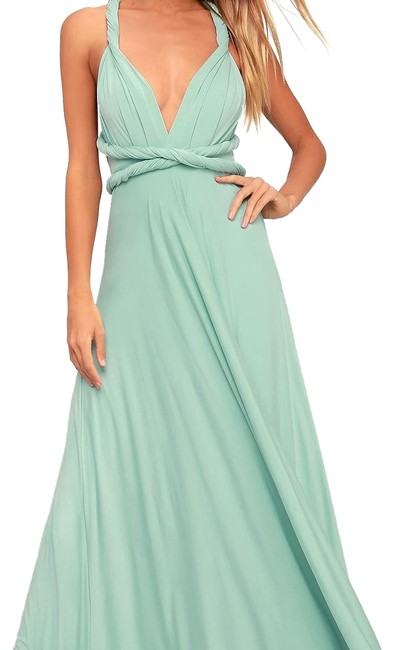 Item - Light Sage Tricks Of The Trade Long Formal Dress Size 2 (XS)