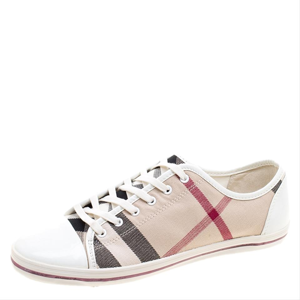 Beige and Canvas Low Toe Top Novacheck Sneakers Burberry Sneakers Cap Leather xB41Ww