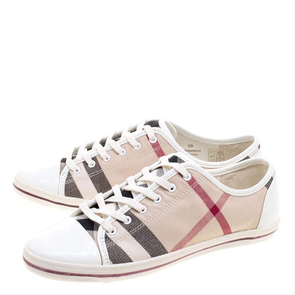 Sneakers Toe Novacheck Canvas Cap Leather and Top Low Burberry Beige Sneakers wqvx61WF1