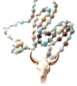 Other Amazonite Stones Tribal Horn Pendant Necklace