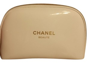 Chanel New White Chanel Camelia Cosmetic Bag