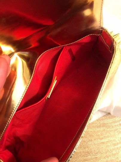 Christian Louboutin gold Clutch Image 6