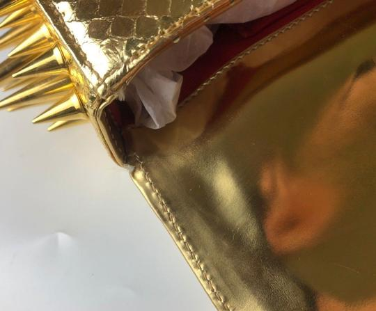 Christian Louboutin gold Clutch Image 7