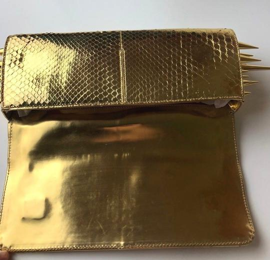 Christian Louboutin gold Clutch Image 8