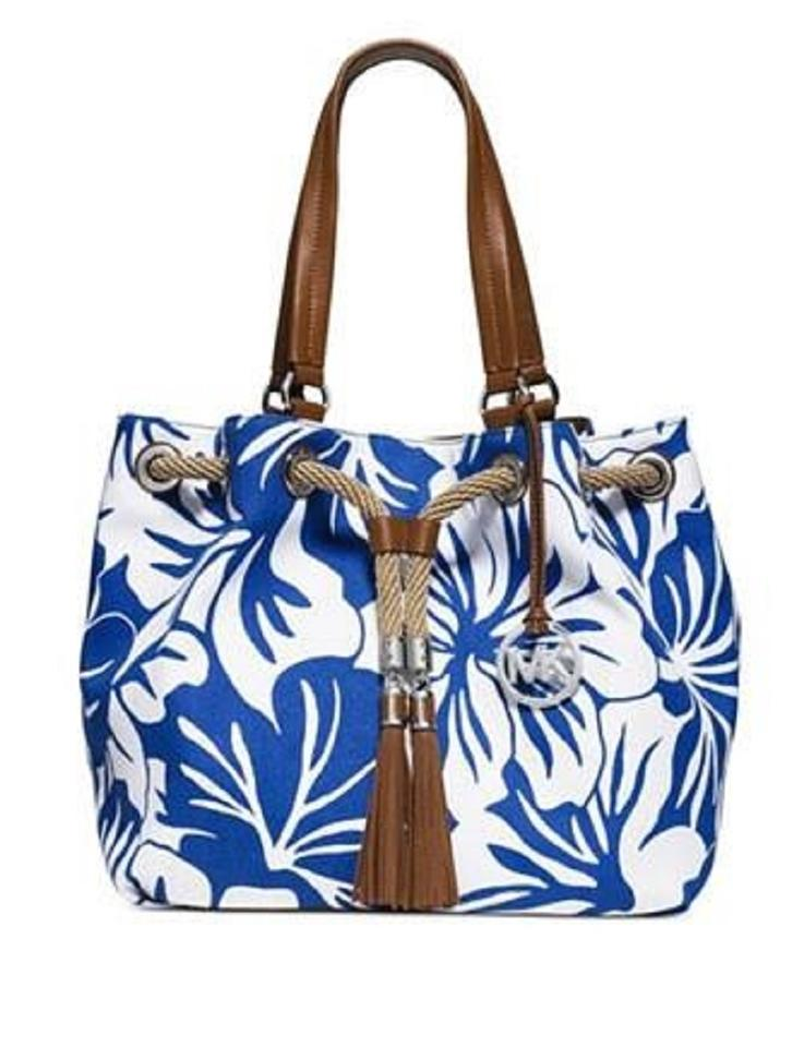 a7bd2873b9d931 Michael Kors Tote Nautical Beach Summer Sailor Shoulder Bag Image 0 ...
