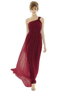 Dessy Forever Pink Chiffon Knit D691 Formal Bridesmaid/Mob Dress Size 8 (M)