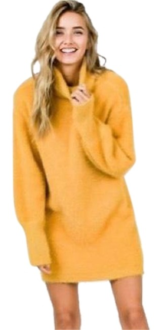 Preload https://img-static.tradesy.com/item/23822264/mustard-oh-so-soft-brushed-sweater-in-new-s-short-casual-dress-size-4-s-0-1-650-650.jpg