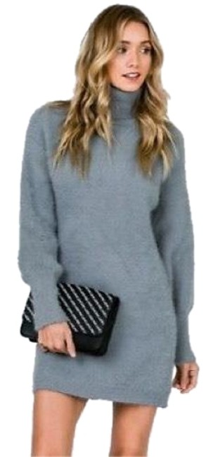 Preload https://img-static.tradesy.com/item/23822327/gray-oh-so-soft-brushed-sweater-in-new-short-casual-dress-size-12-l-0-1-650-650.jpg