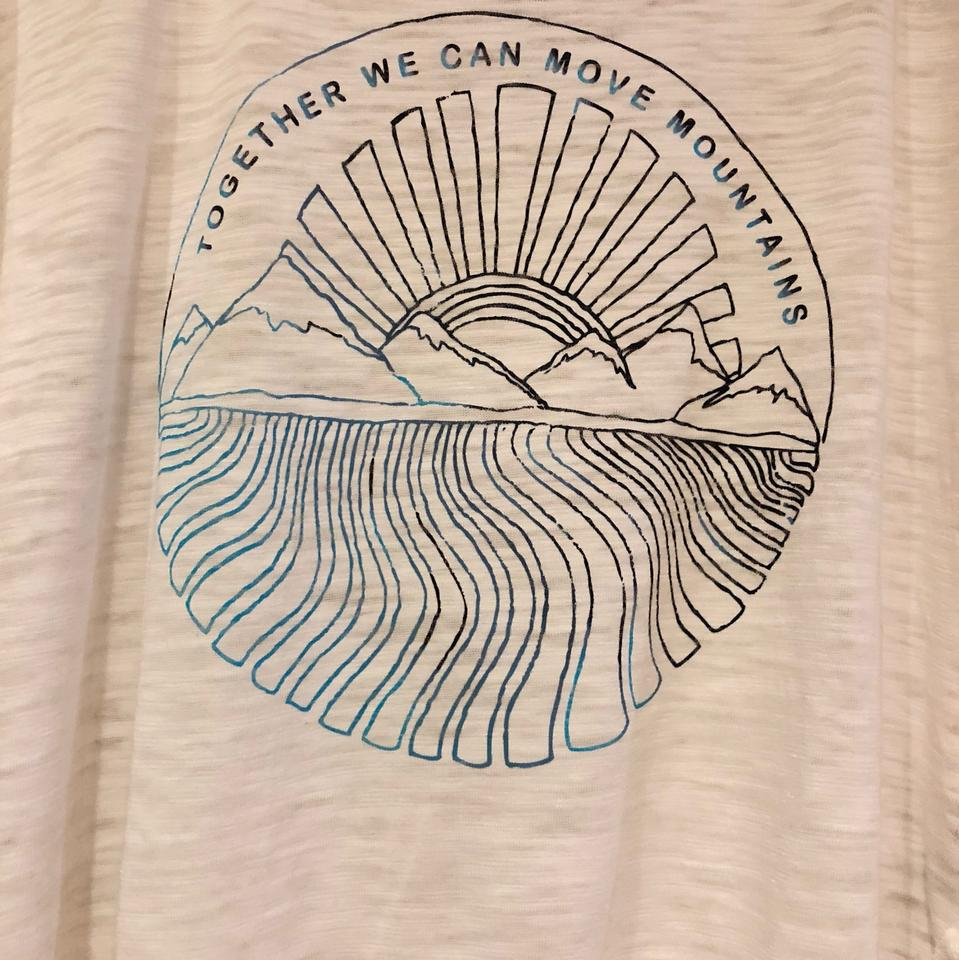 06d66abac610 Free People White Together We Can Move Mountains Graphic Jordan Tee ...