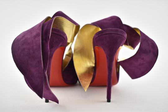 Christian Louboutin Stiletto Pigalle Strass Crystal Follies purple Pumps Image 10