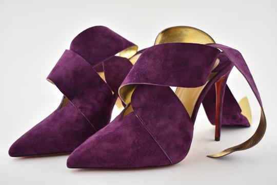 Christian Louboutin Stiletto Pigalle Strass Crystal Follies purple Pumps Image 8