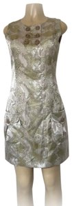 Samuel Dong Mini Sleeveless Snakeskin Sheath Dress